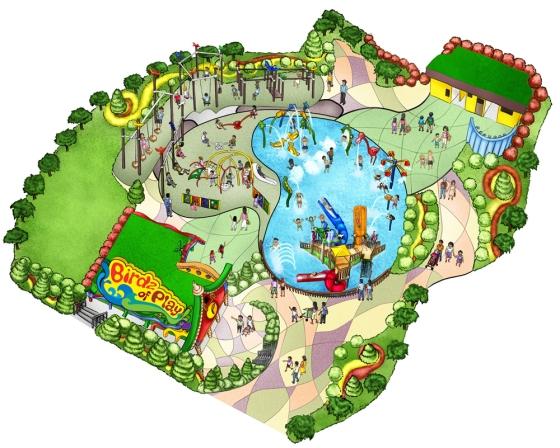 Illustration - Jurong Bird Park Info Map