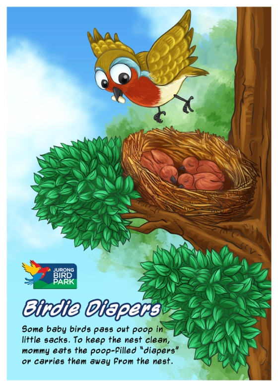 Cartoon Illustration Painting - Birdie Diapers