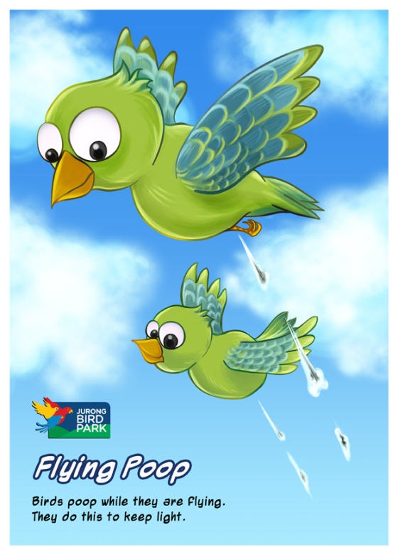 Cartoon Illustration Painting - Flying Poop