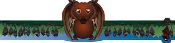 Cartoon Painting Illustration - Malayan Flying Fox Head Mask