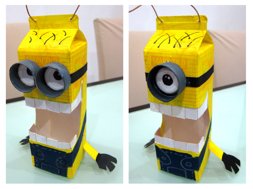 Diy Minion Lantern on Toilet Paper Roll Beaver Craft