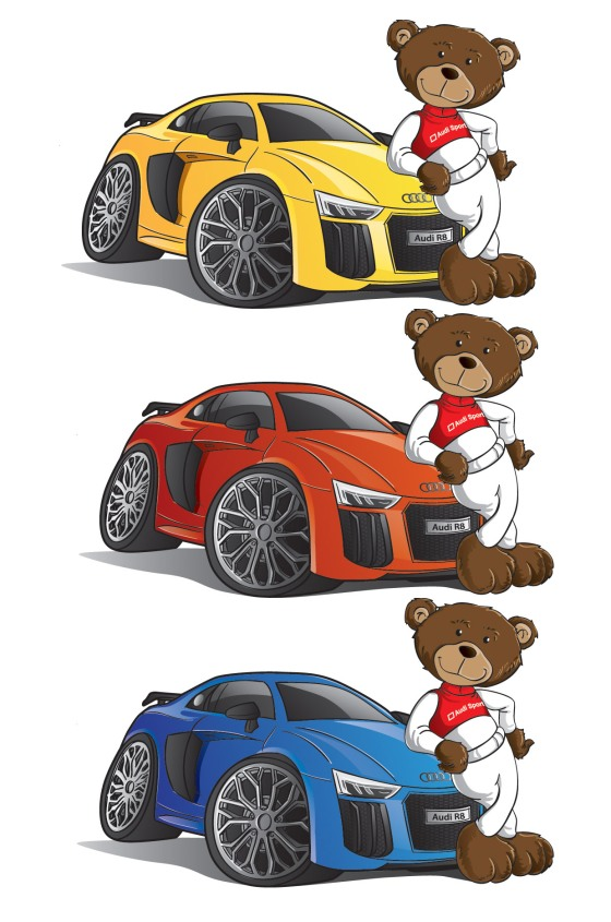 Audi Cartoon Visuals